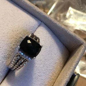Authentic David Yurman Onyx with Diamonds